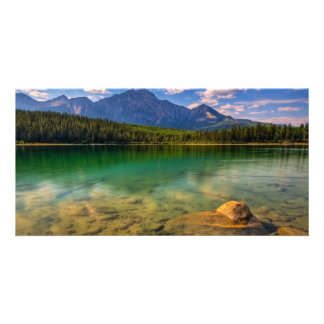 Lakeside Mountain View Picture Card