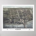 Lakeside, OH Panoramic Map - 1884 Poster
