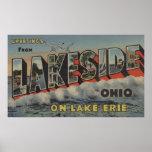 Lakeside, Ohio - Lake Erie - Large Letter Poster