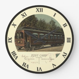 Lakeside Ohio Post Card Clock - Electric Car 1911