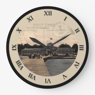 Lakeside Ohio Post Card Clock - Pavillion 1913