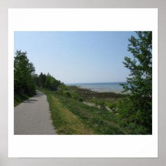 Lakeside path near Charlevoix MI Posters