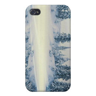 Lakeside Snow Tree Reflections iPhone 4/4S Cover