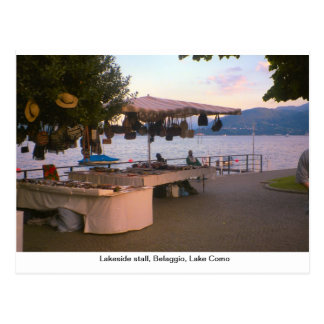 Lakeside stall, Belaggio, Lake Como Postcard