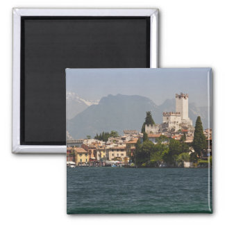 Lakeside town, Malcesine, Verona Province, Italy 2 Inch Square Magnet