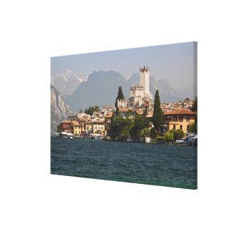 Lakeside town, Malcesine, Verona Province, Italy Canvas Print