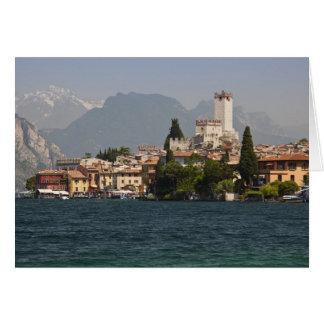 Lakeside town, Malcesine, Verona Province, Italy Card