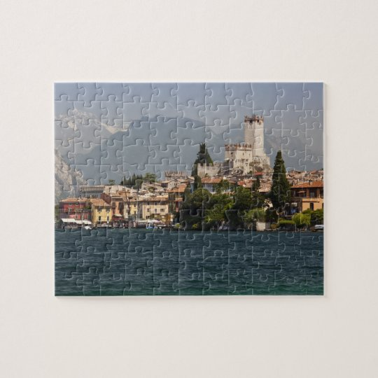 Lakeside town, Malcesine, Verona Province, Italy Jigsaw Puzzle