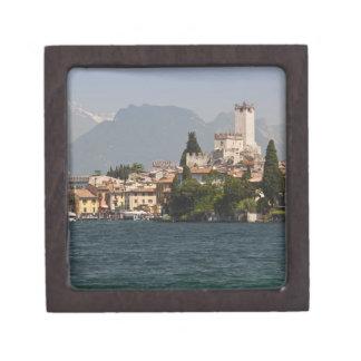 Lakeside town, Malcesine, Verona Province, Italy Keepsake Box