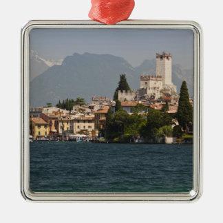 Lakeside town, Malcesine, Verona Province, Italy Metal Ornament