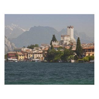 Lakeside town, Malcesine, Verona Province, Italy Panel Wall Art
