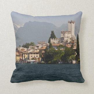 Lakeside town, Malcesine, Verona Province, Italy Pillow