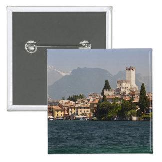 Lakeside town, Malcesine, Verona Province, Italy Pinback Button