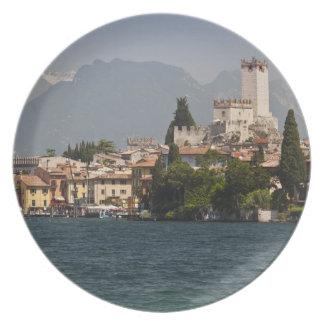 Lakeside town, Malcesine, Verona Province, Italy Plate