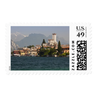 Lakeside town, Malcesine, Verona Province, Italy Postage Stamp