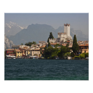 Lakeside town, Malcesine, Verona Province, Italy Print