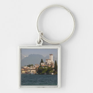 Lakeside town, Malcesine, Verona Province, Italy Silver-Colored Square Keychain