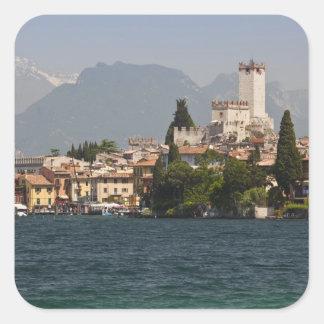 Lakeside town, Malcesine, Verona Province, Italy Square Sticker