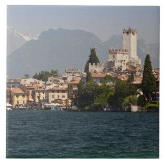 Lakeside town, Malcesine, Verona Province, Italy Tile