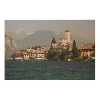 Lakeside town, Malcesine, Verona Province, Italy Wood Print