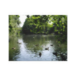 Lakeside view gallery wrapped canvas