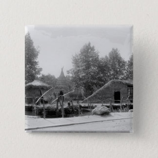 Lakeside village at the Universal Exhibition Pinback Button