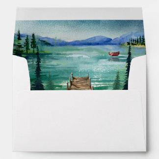 Lakeside Wedding Coordinating Envelope