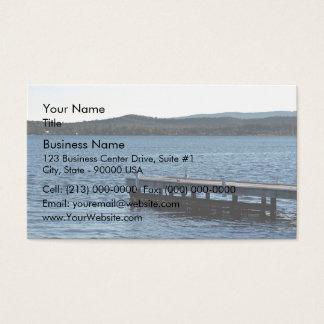 Lakeside wharf business card