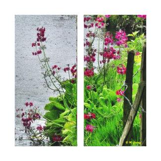 Lakeside Wildflowers Canvas Art Print
