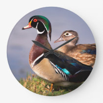 Lakeside, Wood Duck Large Clock