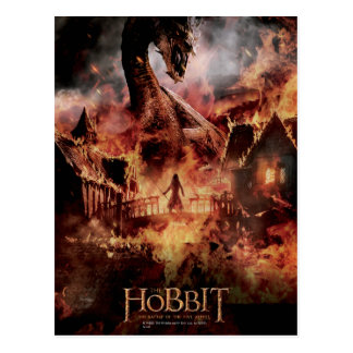 Laketown Ablaze With SMAUG™ & BARD THE BOWMAN™ Postcard