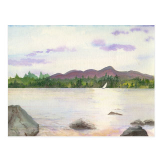 Lakeview Landscape with Sun Reflecting on the Lake Postcard
