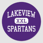 Lakeview - Spartans - joven - Battle Creek Pegatina Redonda