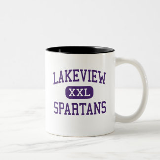 Lakeview - Spartans - Junior - Battle Creek Two-Tone Coffee Mug