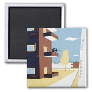Lakeview Terrace 2 Inch Square Magnet