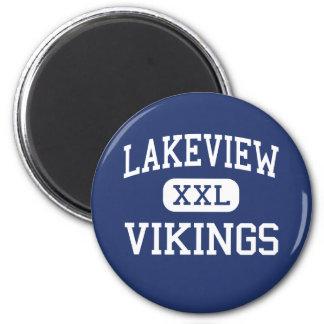 Lakeview - Vikings - High - Columbus Nebraska 2 Inch Round Magnet