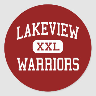 Lakeview - Warriors - Middle - Rossville Georgia Classic Round Sticker