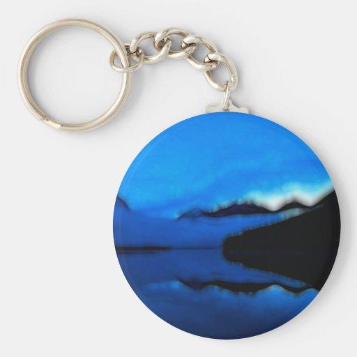 LakeViewz1 Basic Round Button Keychain