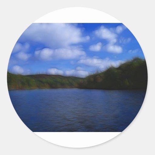 LakeViewz2 Classic Round Sticker