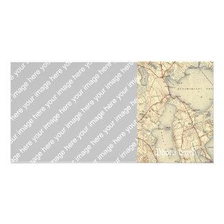 Lakeville MA Map Photo Card