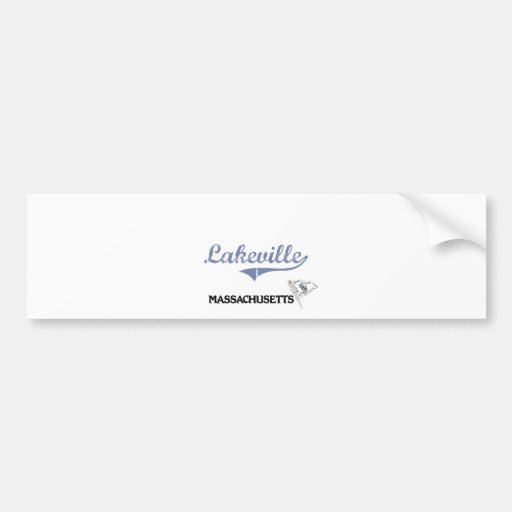 Lakeville Massachusetts City Classic Bumper Stickers