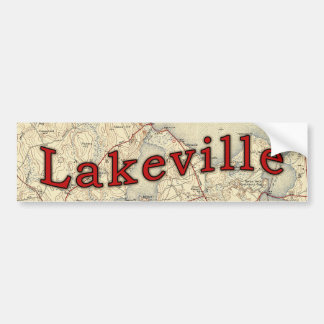 Lakeville Massachusetts Old Map Bumper Sticker