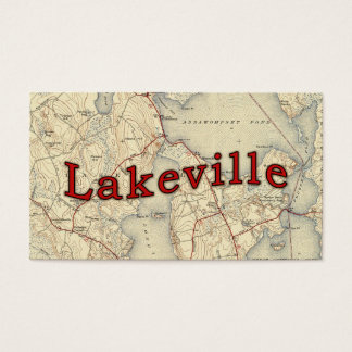 Lakeville Massachusetts Old Map Business Card