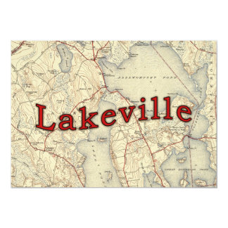 Lakeville Massachusetts Old Map Card