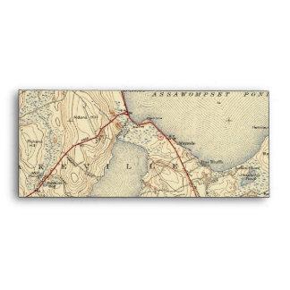 Lakeville Massachusetts Old Map Envelope