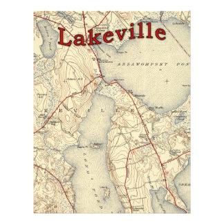 Lakeville Massachusetts Old Map Flyer