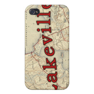 Lakeville Massachusetts Old Map iPhone 4 Cover