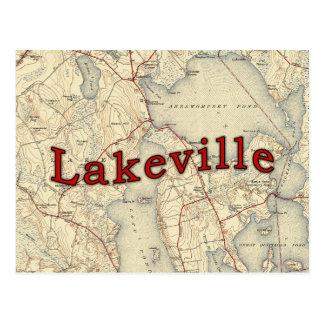 Lakeville Massachusetts Old Map Postcard