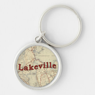 Lakeville Massachusetts Old Map Silver-Colored Round Keychain