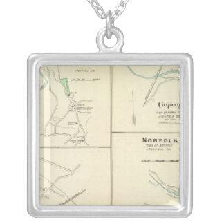 Lakeville, Norfolk, Salisbury Square Pendant Necklace